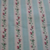 Patchworkstoff Blumenranken blau
