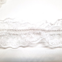 Elastische filigrane Tüllspitzenborte 4 cm