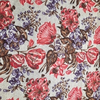 Traditioneller Patchworkstoff Edith 1840 - 1870 cent. mit Blumenmuster