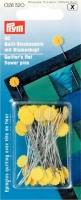 Prym Quilt-Stecknadeln 0,60 x 50 mm gelb m. Blumenkopf