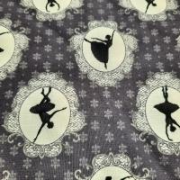 Patchworkstoff Tanzende Ballerina