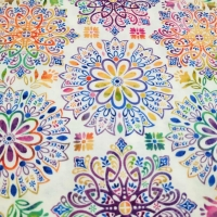 Wunderschöner farbenfroher Ornamentprint Gossamer Garden