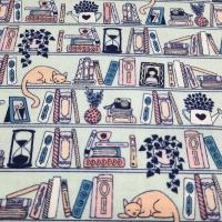 Katzen im Bücherregal by Camelot Fabrics