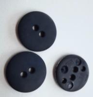 Kunststoffknopf Dunkelblau 15mm