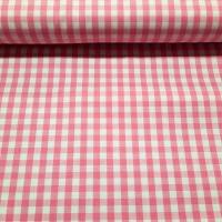 Karo Pink Weiß 5 mm
