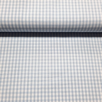 Karo Hellblau Weiß 3 mm