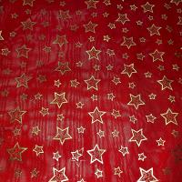 Weihnachtschiffon rot und gold