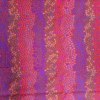 Kaffe Fassett getupftes Muster mit rot, violett und orange