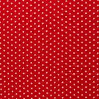Baumwolle Sterne Rot
