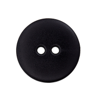 Kunststoffknopf Schwarz 15mm