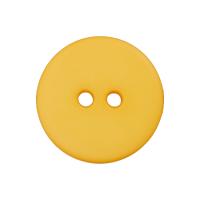 Kunststoffknopf Gelb 15mm