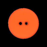 Kunststoffknopf Orange 15mm