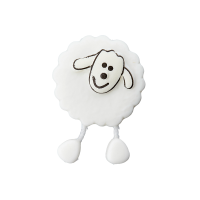 Kinderknopf Schaf weiß