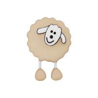 Kinderknopf Schaf beige