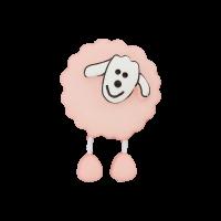 Kinderknopf Schaf rosa