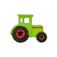 Kinderknopf Traktor grün