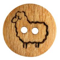 Holzknopf mit Schaf