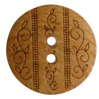 Standard Holzknopf gemustert