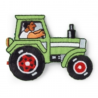 Traktor grün Applikation