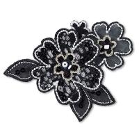 Blumenranke schwarz Applikation