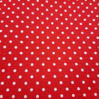 Baumwolle Rot mit Punkten 2mm
