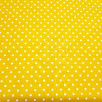 Baumwolle gelb mit Punkten 2mm