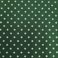 Baumwolle dunkelgrün mit Punkten 2mm