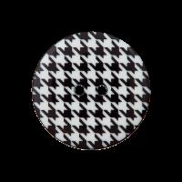 Kunststoffknopf schwarz/weiß 20mm