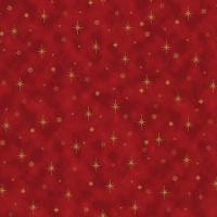 Goldene Sterne auf roten Grund