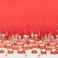 Scandi Weihnachtsdorf rot
