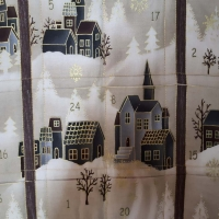 Adventskalender taupe gold