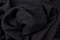Tupfen Chiffon schwarz