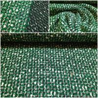 Edler Bouclé grün schwarz weiss