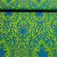 Brokat Damast grün blau